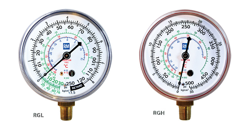 RGL PNM Replacement Gauge 1-8-inch NPT bottom connection, 2-1-2-inch(68mm) O.D.