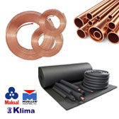 AC Copper Coils, Tubes, PIpes & Rubber Insulation Suppliers