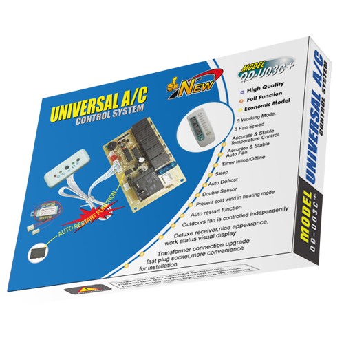 QD-U03C Universal Air Conditioner PCB Board with AC Remote Control System